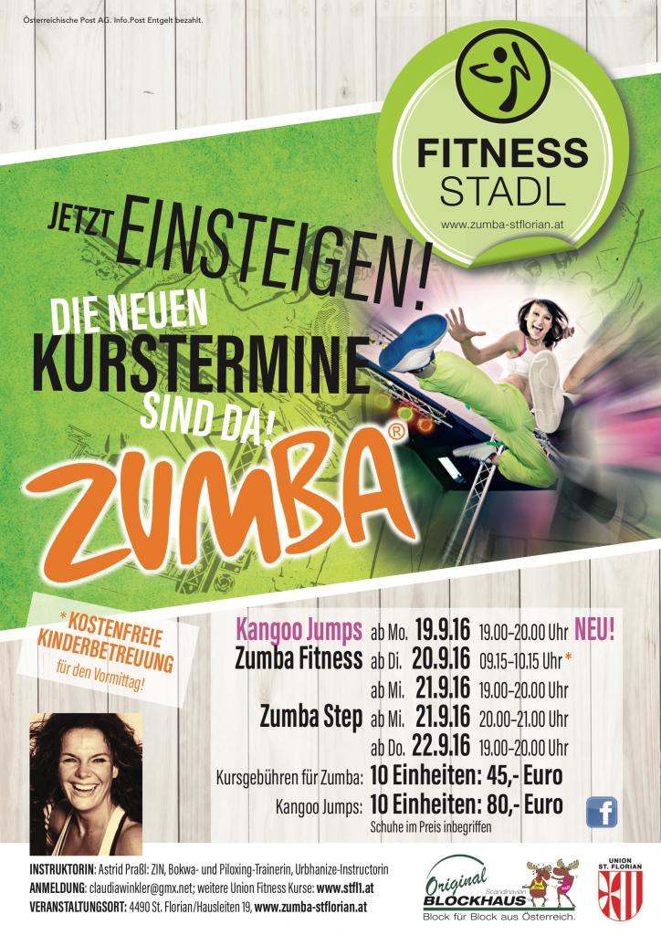 Zumba Fitness St. Florian Kurstermine September 16